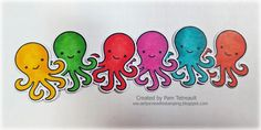 """airbornewife's stamping spot: TupeloDesignsLLC DT Project~ MOJO478 """"YOU OCTOPI MY HEART"""" Shaker card ~ *GIVEAWAY!*"""