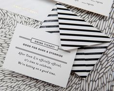 mini striped envelope