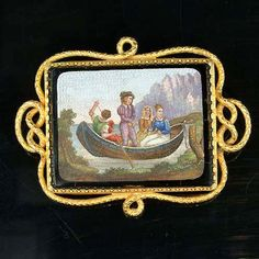 An early 19th century micro-mosaic plaque