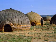 Cuadros de los hogares en Africa   ... Conocer a la gente Zulu y queda hipnotizado por sus hogares y la cultura
