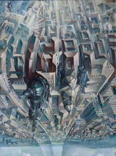 Tullio Crali - Upside Down Loop (Death Loop) (Granvolta rovesciata [Giro della morte]), 1938, oil on panel