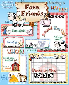 Bring some smiles from down on the farm into your classroom for assignments, fliers, record books, notes, desk decorating & more! Classroom Borders, Classroom Design, Classroom Themes, Primary Classroom, Farm Activities, Preschool Farm, Preschool Songs, Sunday School Classroom, Future Classroom