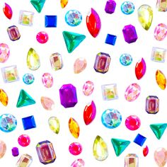 :: colorful jewels pattern! so cute!