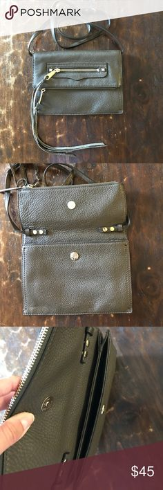 Rebecca Minkoff Olive Reagan Clutch This perfect day to night Olive purse has detachable and adjustable straps, perfect for a cross body look during the day or for a clutch look in the evening. Excellent condition, gently used, gold hardware with no chips. Comes with a dust bag for travel and storage. Rebecca Minkoff Bags Clutches & Wristlets