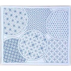 Bloom in sky blue - sky blue cotton sashiko pattern kit, stitch on the preprinted line- approx. 30 cm x 36 cm inch x 14 inch) Embroidery Tools, Sashiko Embroidery, Japanese Embroidery, Embroidery Patterns, Embroidery Cards, Needlepoint Patterns, Embroidery Stitches, Machine Embroidery, Sewing Patterns