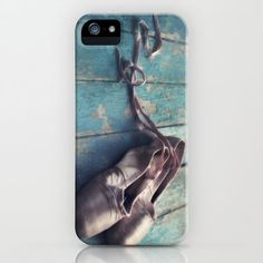 danced (Old pointe ballet shoes on a distressed wooden floor) iPhone Case by Priska Wettstein | Society6