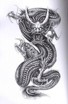 - Tattoo Vorlagen : 60 kostenlose Tiermotive Tattoovorlagen – Haus Dekoration Mehr Dragon tattoos are typical male tattoos! Dragon Tattoos For Men, Dragon Sleeve Tattoos, Japanese Dragon Tattoos, Japanese Tattoo Art, Dragon Tattoo Designs, Japanese Tattoo Designs, Tattoos For Guys, Wing Tattoos, Dragon Tattoo Drawing