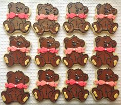 bear cookies for a build-a-bear party!