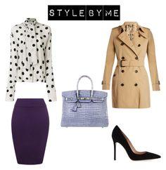 """Look #1"" by elufimova-elena on Polyvore featuring мода, Natasha Zinko, Burberry, Hermès, WearAll, Gianvito Rossi и fashionset"