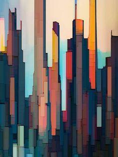 Art do City-art, Abstract, skyscrapers, NY. Abstract City, Blue Abstract Painting, City Painting, Abstract Wall Art, Abstract Geometric Art, Acrylic Paintings, Abstract Print, Cityscape Art, City Art