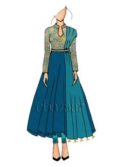 Ideas Fashion Clothes Illustration Colour For 2019 Dress Design Sketches, Fashion Design Drawings, Fashion Sketches, Fashion Sketchbook, Indian Fashion, Fashion Art, Fashion Models, Fashion Outfits, Fashion Clothes