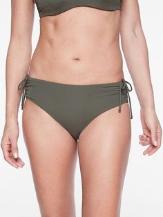 19dce8f6ee Athleta Full Scrunch Bikini Bottom NWT sz XL Herb Olive Full Seat High Rise   fashion