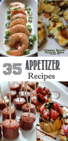 35 finger food appetizer recipes perfect for any party or event! These easy to make recipes are perfect for a crowd! From dips to make ahead crock pot appetizers you will find something everyone will enjoy!