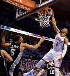 b5b163778407c Gotta Love when Russell does this! Let s Go Thunder!!! Western Conference