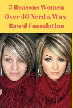 -Are you ready for a foundation that makes your skin look better but not overly made up? If youre a woman over the age of 40 you need a wax based foundation. Learn about one here and all the benefits of using it. Over 40 Hairstyles, Short Bob Hairstyles, Haircuts, Beauty Skin, Hair Beauty, Makeup Over 50, All Natural Makeup, Hair Color For Women, It Goes On