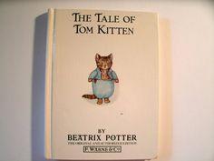 The Tale of Tom Kitten // Beatrix Potter // Mini Book // Vintage Children's Book  // Etsy // LoveVintageAlways