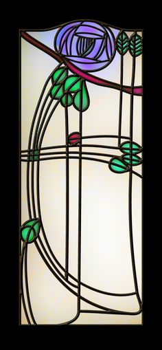 Version two of a leaded glass panel that took my interest, but I don't have any information about.