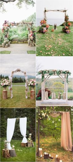 rustic tree stump wedding decor ideas / http://www.deerpearlflowers.com/rustic-woodsy-wedding-trend-tree-stump/ #rustic #rusticwedding #countrywedding #weddingideas