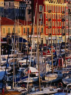 Photographic Print: Boats in the Harbour at Bassin Lympia, Nice, France by Richard I'Anson : Provence, Nice France, Travel Brochure, Southern Europe, French Riviera, Travel Photographer, Lonely Planet, Stock Pictures, Boats