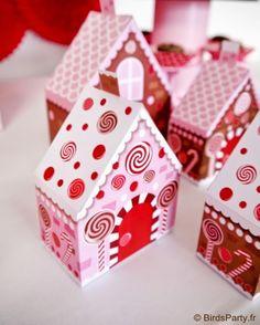 boites cadeaux printables format maison en pain d'épice! pour offrir en cadeaux de noël ou suspendre au sapin!