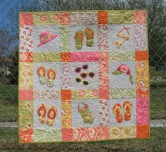 Looking for your next project? You're going to love Beach Summer (lap quilt or wall hanging) by designer 2strings. - via @Craftsy