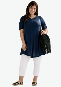 Twisted V-neck Tunic by ellos®  036309a5aae4