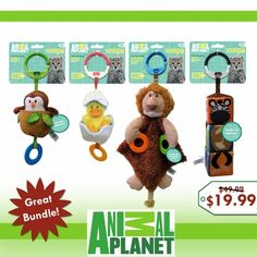 Animal Planet 4 Toy Holiday Bundle Baby Stroller Accessories, Baby Toys, Baby Strollers, Planets, Christmas Ornaments, Holiday Decor, Gifts, Animals, Green