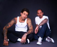 "Tim Hendricks and Chris Garver. ""Miami Ink"". My sister and I will never forget the episode when Tim was asked to come tattoo in the shop. **swoon**"