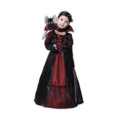 "Kids Halloween Costumes Vampire Dress Fit Height 41.3""- 47.2"""