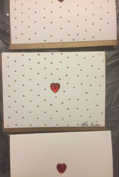 """Simply Love"" Hand Painted Greeting Card & Design by Melody Germain of My ""Escape"" Art with Heart Embellishment"