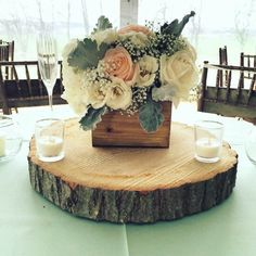 Rustic Wooden Box Centerpiece Décor with an Earthy Touch