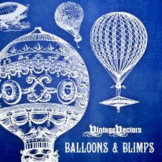 Vintage Hot Air Balloon Art