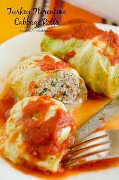 Turkey Florentine Stuffed Cabbage Rolls by @SeededTable
