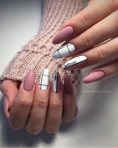Try some of these designs and give your nails a quick makeover, gallery of unique nail art designs for any season. The best images and creative ideas for your nails. Aycrlic Nails, Matte Nails, Nail Manicure, Swag Nails, Glitter Nails, Summer Acrylic Nails, Best Acrylic Nails, Summer Nails, Milky Nails