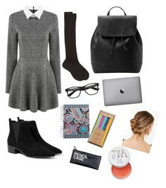 """Back to school"" by percivals on Polyvore featuring MANGO, Maria La Rosa, Vera Bradley and FOSSIL"