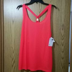 GAP Fit Athletic Top Neon striped super light athletic tank; 100% polyester GAP Tops Tank Tops