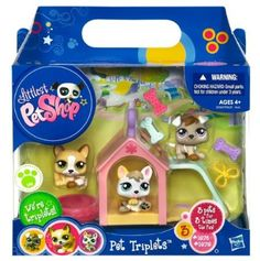 Amazon.com : Littlest Pet Shop Pet Triplets 3-Pack Puppies : Toy Figure Playsets : Toys & Games