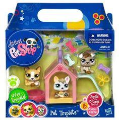 Amazon.com : Littlest Pet Shop Pet Triplets 3-Pack Puppies : Toy Figure Playsets : Toys Games