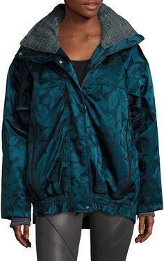 b4c2d024b053f adidas by Stella McCartney Women's Floral Hooded Jacket Different Dress  Styles, Stella Mccartney Adidas,