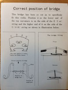 Diagram from the fabulous guys at Morey's Music in Lakewood, CA demonstrating the correct position of a bridge.