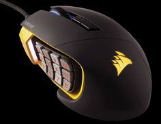 The Scimitar RGB gaming mouse revolutionizes game play with its Key Slider™ control system, 12 mechanical side buttons, and pro-proven 12000 DPI optical sensor. Purpose built to deliver the ultimate MOBA/MMO gaming experience.