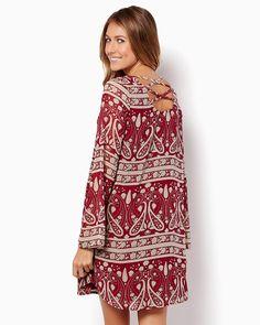 charming charlie | Paisley Perfection Tunic Dress | UPC: 410007100595 #charmingcharlie