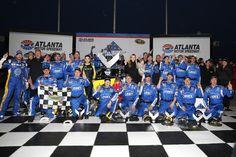 Hendrick Motorsports: #OneTeam   Hendrick Motorsports...Dale Jr photo bombs #48 victory lane photo.