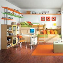 bunk beds/great use of space. Perfect for smaller rooms.