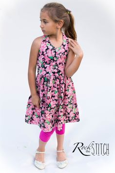 Rock the Stitch: Free halter dress pattern and tutorial (pattern on my computer)