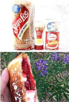 Camping Hacks for Food - Easy Pudgy Pie Desserts!  You won't believe how simple these Strawberry Cheesecake Pies are to make over the campfire... and they'll disappear as fast as you can make them!  Go grab the recipe and give them a try! Easy Cheap Desserts, Easy Summer Desserts, Easy Summer Meals, Fun Desserts, Summer Recipes, Fruit Recipes, Sweet Recipes, Snack Recipes, Dessert Recipes