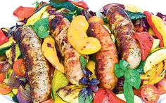 Sausage medley...with grilled veggies