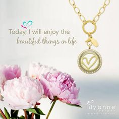 {Today, I will enjoy the beautiful things in life} Have a beautiful day everyone #LilyAnneDesigns #PersonalisedLockets