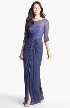 Adrianna Papell Sequin Gathered Chiffon Gown | Nordstrom...my mom would look smokin hot in this!