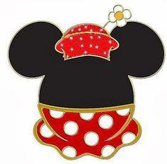 Originales cabezas con vestidos de Minnie.